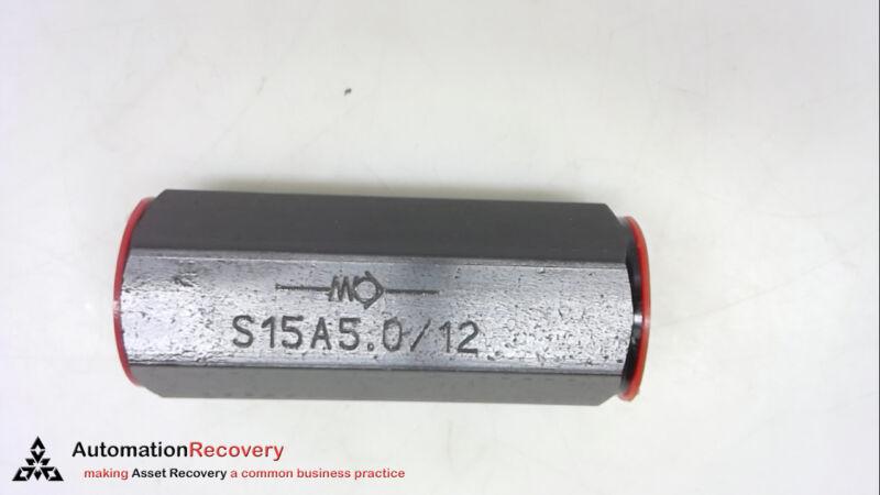 REXROTH S15A5.0/12, CHECK VALVE, NEW* #247800