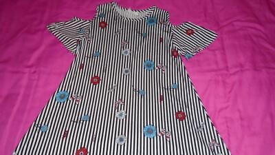 Size 12 Girls (Girls Size 12 BTWEEN Dress Cold Shoulder Stripes and Floral)