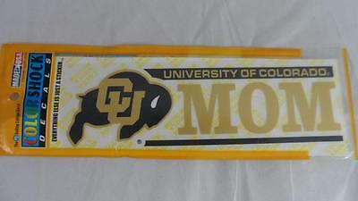 NEW Lot of 2 University of Colorado CU Buffaloes MOM Color Shock Sticker Decals - University Of Colorado Buffaloes