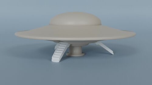 Forbidden Planet C-57D StarCruiser w/ N Scale Robby the Robot Figure 3D Printed