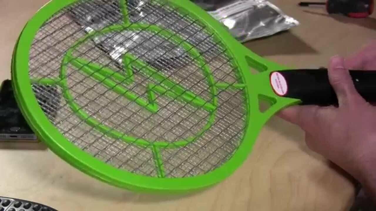 Handheld Bug Zapper Tennis Racket Electronic Fly swatter Gre