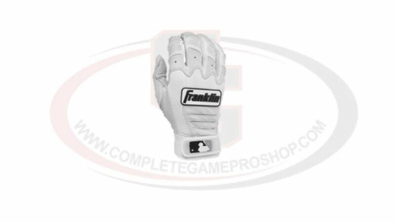 Franklin CFX Pro Youth Batting Gloves- white/medium