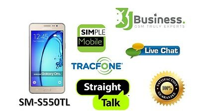 Unlock Service for Galaxy On5 / Tracfone /simplen mobile/straighTalk/S550Tl