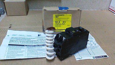 Sq D Qob250epd Equipment Protection Gfci Breaker 2p 50a 120-240vac 30ma Trip
