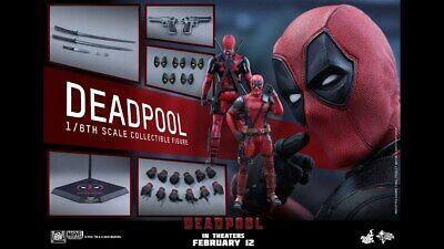 Hot Toys MMS 347 Deadpool Ryan Reynolds Wade Wilson 12 inch Figure BRAND NEW