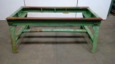 Vintage Cast Iron Legs Table Work Bench Machine Base 72-12 L 36 W 30-12 H