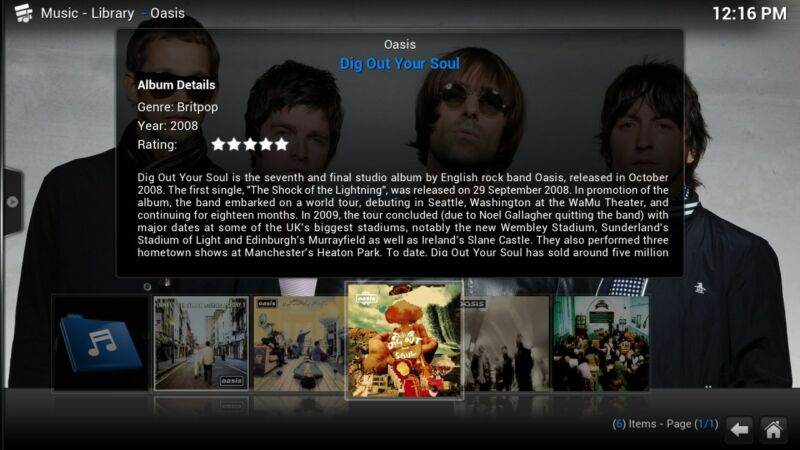 XBMC can play all your music including mp3, flac, wav and wma formats. It has cue sheet, tag reading support and smart p