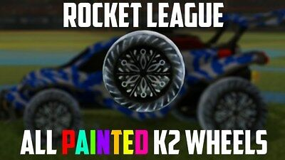 (PC) ALL PAINTED K2 WHEELS ROCKET LEAGUE (Steam) - CHEAPEST/FASTEST (Cheapest Paint)