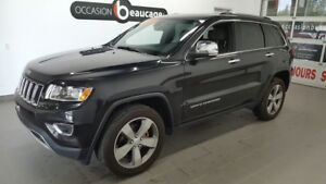 2016 Jeep Grand Cherokee Limited, cuir, toit ouvrant, volant cha