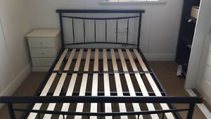 Black metal double bed frame Clontarf Redcliffe Area Preview