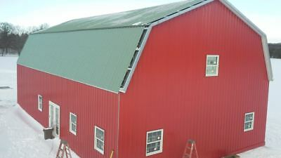 Steel Metal Gambrel Home Building Shell Kit 2 Floor 3600 Sq Ft