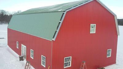 Steel Metal Gambrel Home Building Shell Kit, 2 floor 3600 sq - Home Kits