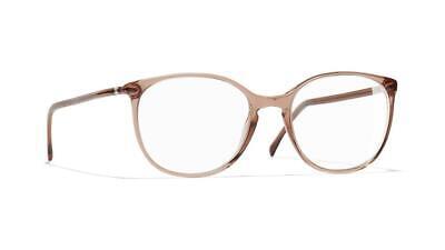 CHANEL 3282 1651 Transparent Brown Brille Glasses Eyeglasses Frames Size 52