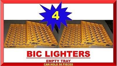 Lot 4 Display Tray For 50 Standard Bic Lighters For Store Counter Top Rack New