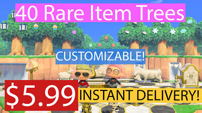 40 CUSTOM Item Trees - Heart Crystals, Stars -RARE- Animal Crossing New Horizons