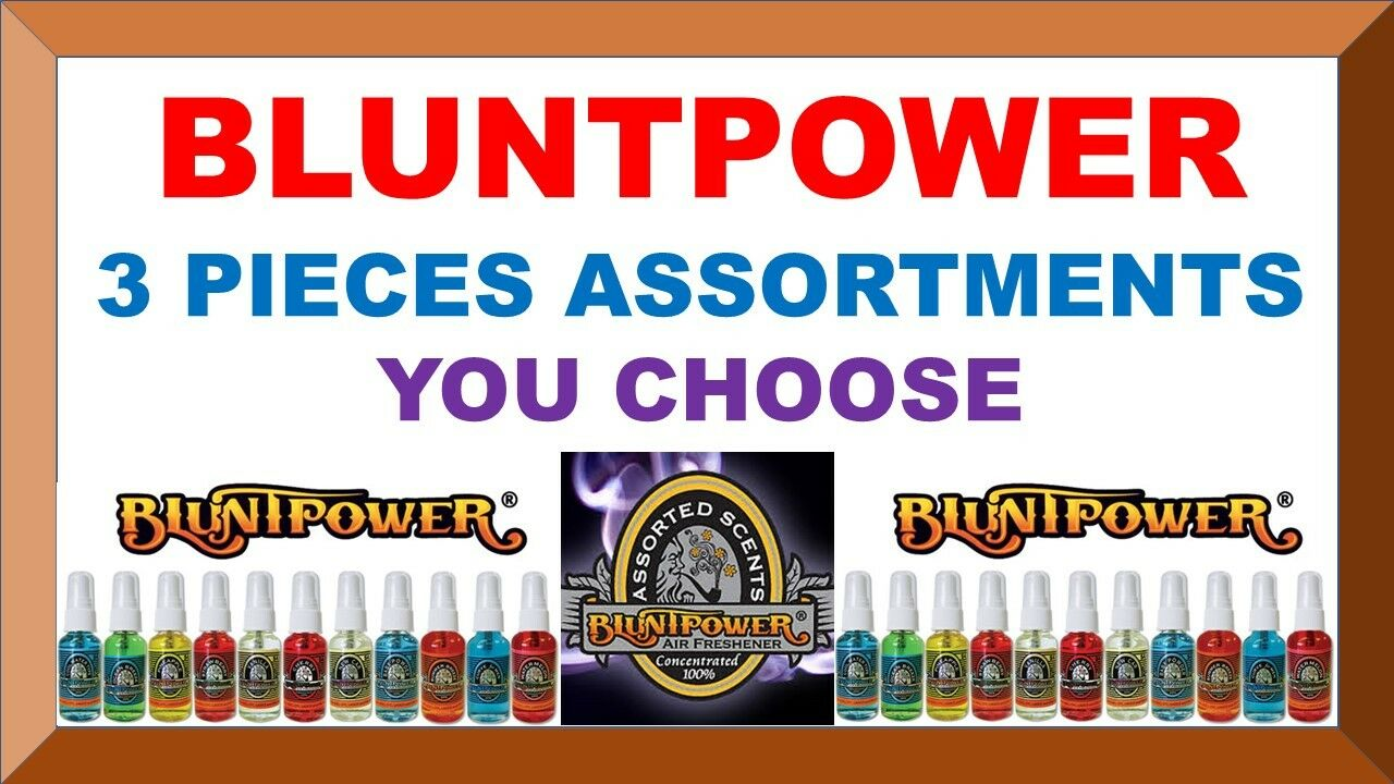 3 BluntPower 100% Concentrated Oil Based Air Fresheners Blun