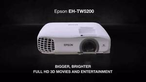 Full HD 1080p 3D Projector EPSON EH-TW5200 3LCD RRP $1,449