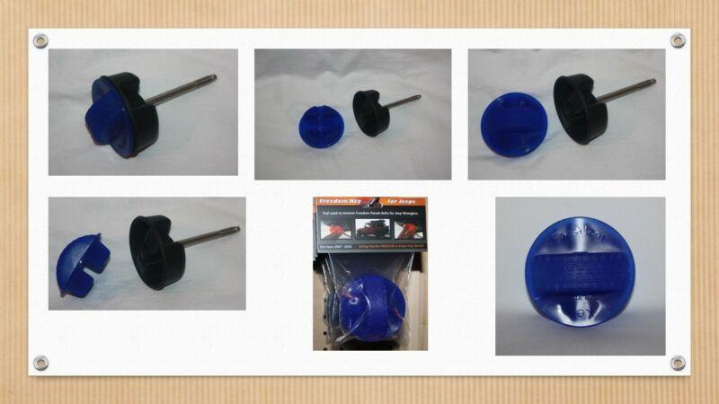(BLUE) Tool for Jeep Wrangler JK 2007-16. Loosen Freedom Panel Bolts -Hard Tops