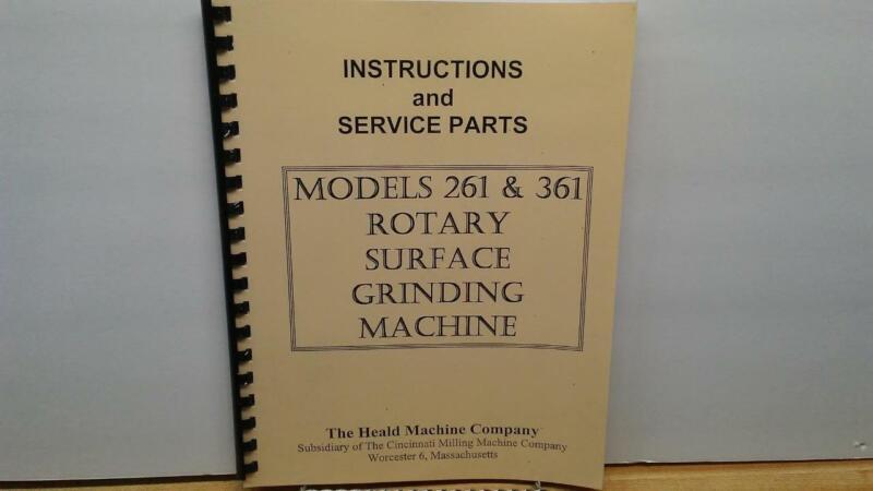 Heald 261 & 361 Rotary Grinder Instruction & Parts Manual