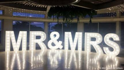 Light Up Letters - Giant 1.5m LED Letters For Hire