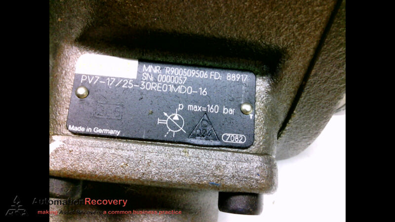 REXROTH R900509506 VANE PUMP, P MAX=160BAR #199053