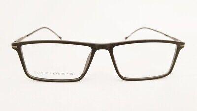 SUPER LIGHT S1728 eyeglasses Frame C1 Matte Black 54mm MEN Rx-able Light (Super Lightweight Eyeglasses)