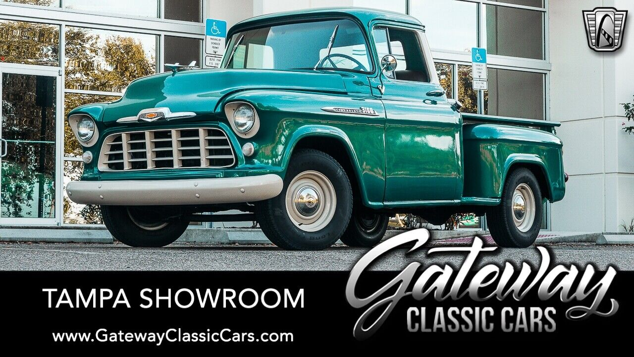 Teal Green Metallic 1956 Chevrolet 3100   350 CID V8 3 Speed Automatic Available