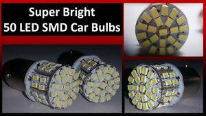 2 x 1156 Super Bright 50 SMD Car LED Bulbs for Break Signal Reverse Parking 12V