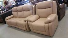 REDUCED!! Full leather ELECTRIC 3 seater + recliner!! Springwood Logan Area Preview