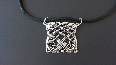 Book of Kells Pewter Pendant Necklace! New Made in USA Celtic Irish Ireland