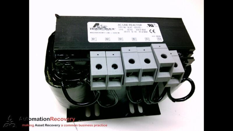 ACME TRANSFORMER ALRC-025TBC- AC LINE REACTOR 3 PH 60HZ 480V, NEW #183227