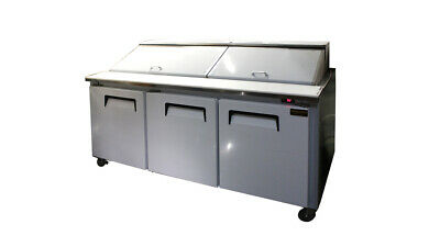 72 New 3-door Commercial Refrigerated Sandwich Prep Table Restaurant