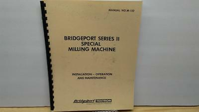 Bridgeport Series 1 Milling Machine M-105H Operation /& Maintenance Manual CD
