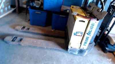Prime Mover Walk Behind Electric Pallet Jack Model 14v Battery Good Condition