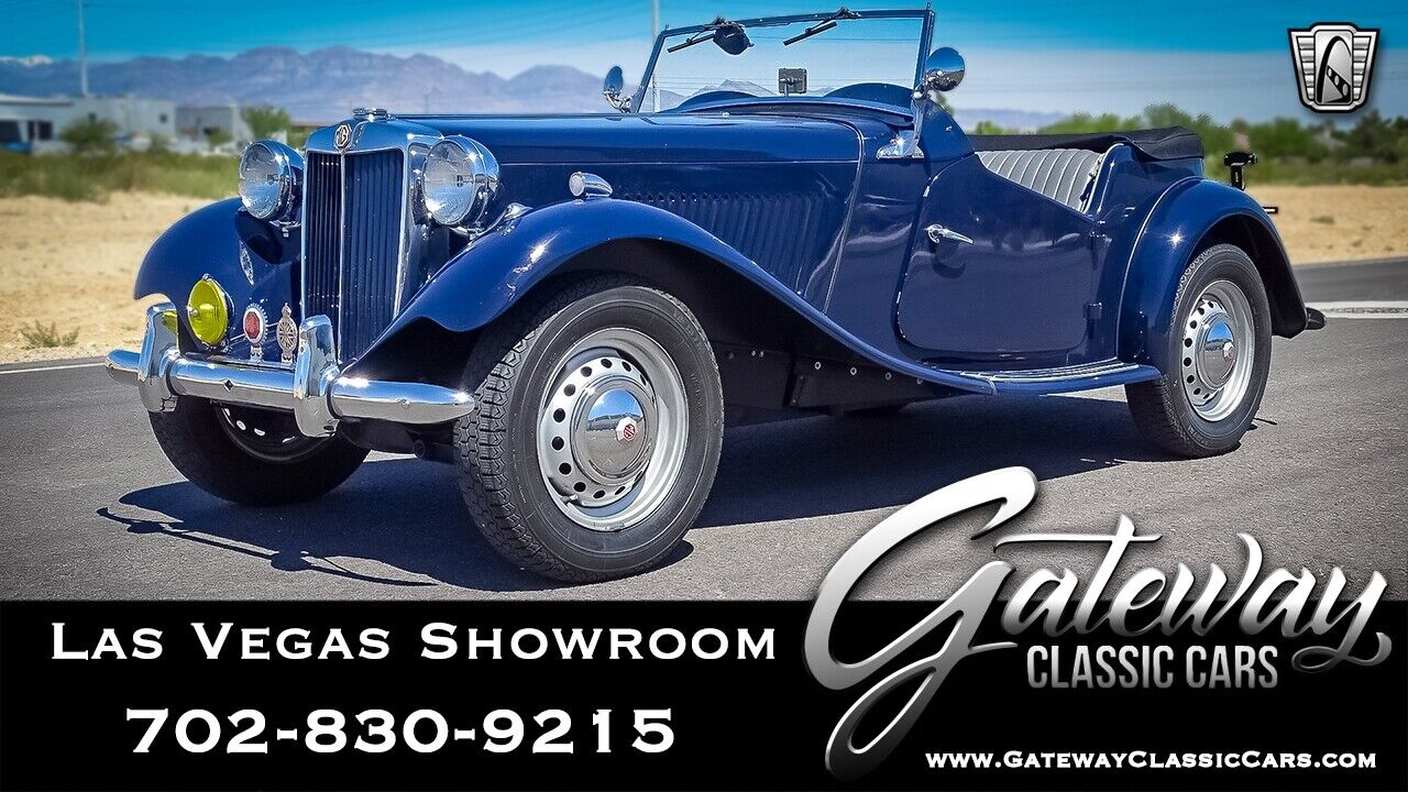 Blue 1952 MG TD Convertible 1250 CU CM Inline Four 5 Speed Manual Available Now!