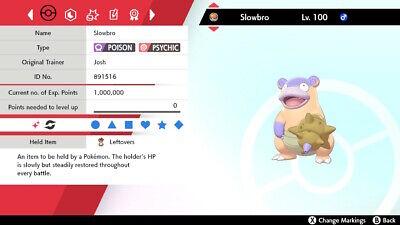 Pokemon Sword & Shield Isle of Armor DLC 6IV Ultra Shiny Galarian Slowbro HA