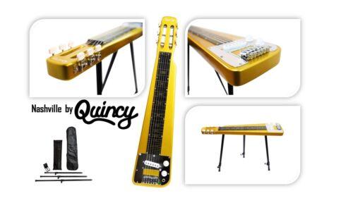 Sparkle Gold Nashville QUINCY 6 String Lap Steel Slide GUITAR bags legs tone bar