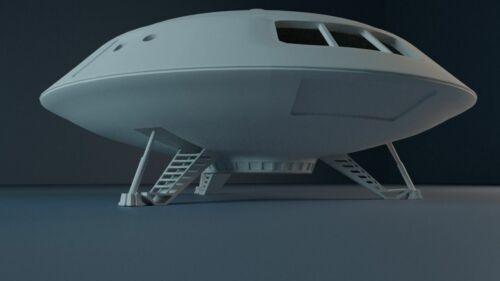 Lost In Space Jupiter 2 4 inch diameter + Robot Chariot Space Pod 3D Print Lunar