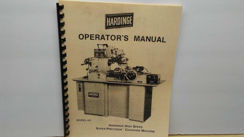 Hardinge HC Chucker Operator's Manual