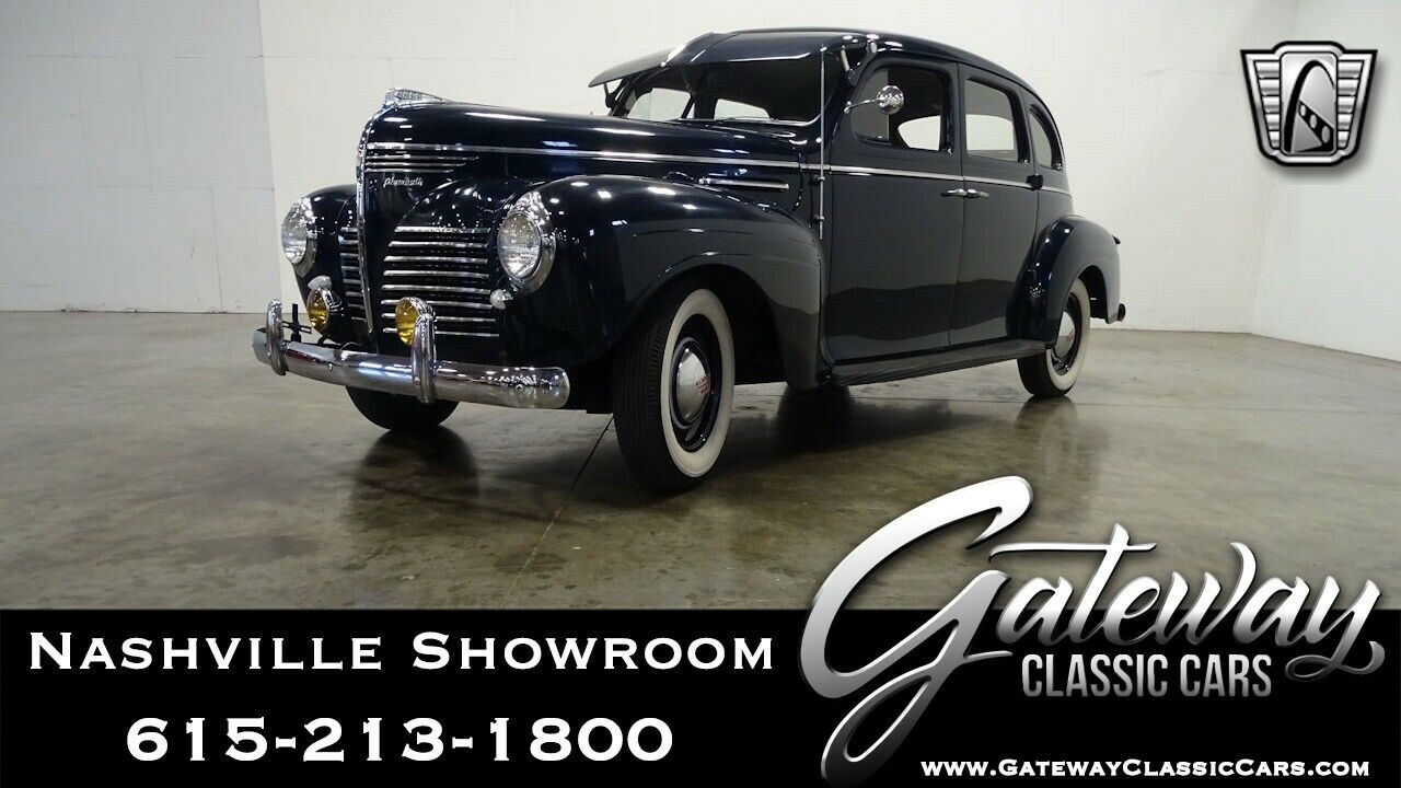 1940 Plymouth Other  Blue 1940 Plymouth Deluxe Sedan 201 CID Inline 6 Cylinder 3 Speed Manual Availab