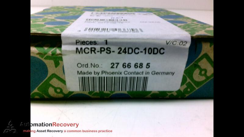 Phoenix Contact Mcr-ps-24dc-10dc Power Supply, New #198292