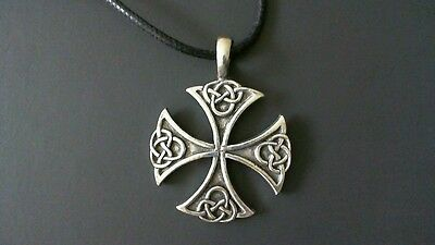 Celtic Cross Pewter Pendant Necklace! New Made in USA Irish Scottish Welsh
