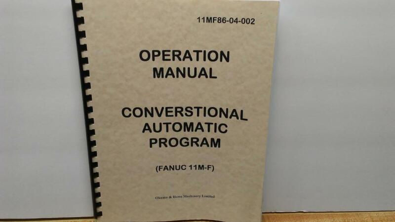 Fanuc 11M-F Conversational Automatic Program Operation Manual