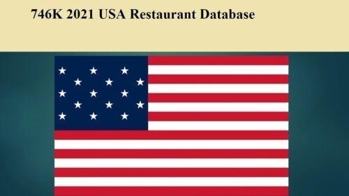 746K USA  2021 Restaurant Email Database Sales Leads list Marketing