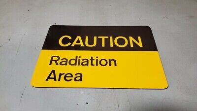 Radiation Area Caution Sign With Adhesive Tape 10in X 7in Old Stock