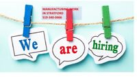 Are you looking for work in Stratford- call 519-340-0464