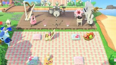 Animal Crossing New Horizons - ACNH / INSTRUMENTS - WHITE OUTDOOR CONCERT SET