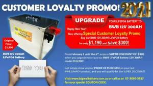 Big Sale LiFePO4 12V 200AH Deep Cycle Battery! Limited Offer Only Slacks Creek Logan Area Preview