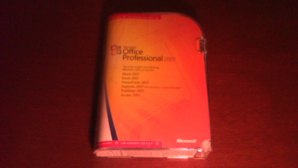 Microsoft Office 2007 Professional Academic Version, and key code