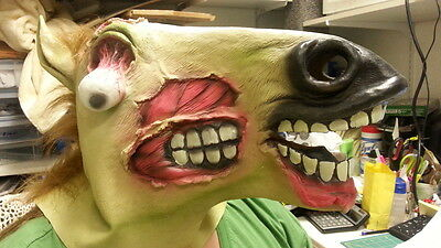 NEW Zombie Horse Mask - In package Never worn - Fun Dress up Adult size Mask